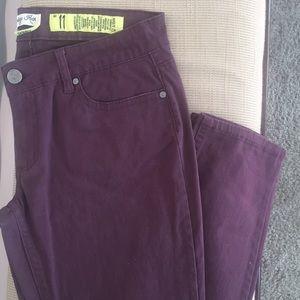 Indigo Rein - Purple Skinny Jeans Size 11